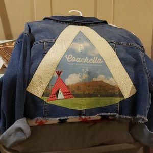 One of a Kind Coachella Cropped Denim Jacket